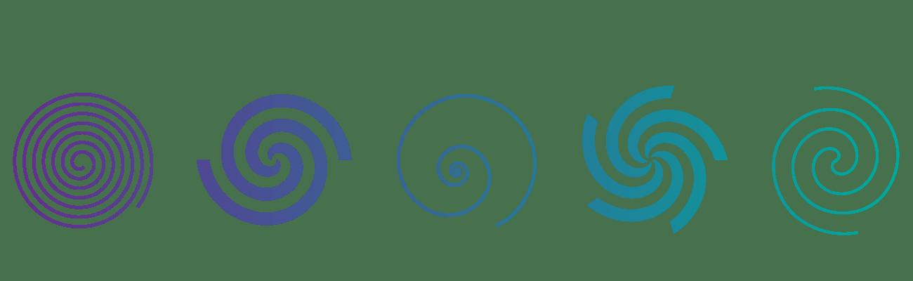 Espirales abstraccion diseño digital Selfish Blog