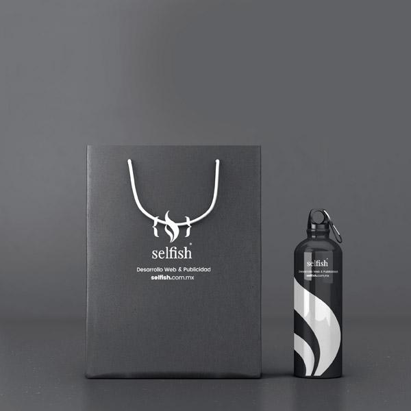 Selfish Branding articulos promocionales tazas y cilindros
